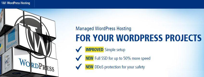 1and1 wordpress hosting