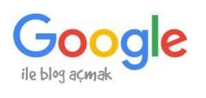 Blog aç google